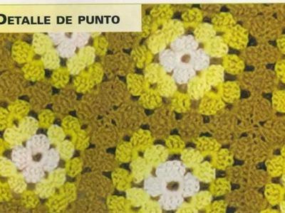 Chal a cuadros Tejido a crochet