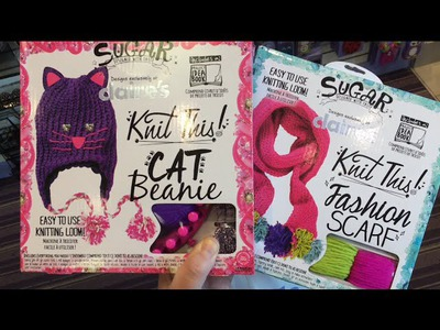 Claire's Boutique Knit This! | Cat Beanie kit & Fashion Scarf kit