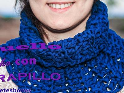 Cómo hacer un cuello con trapillo | Tutorial DIY Crochet XXL