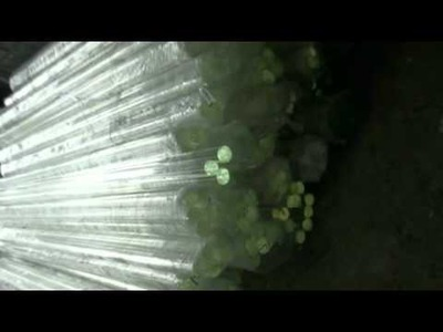 Crystal glass bead making---Crystal material rods without hole