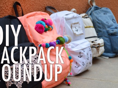DIY Backpack Bonanza Roundup with Mr. Kate