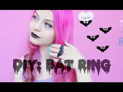 DIY: Bat Ring. Pastel Goth Inspired Ring