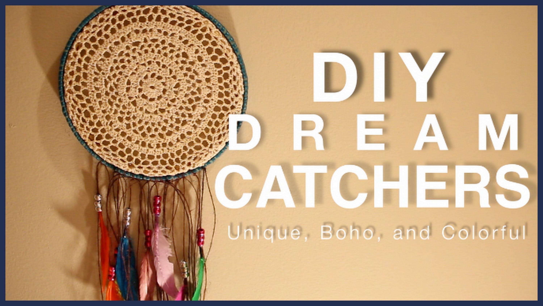 DIY: DREAM CATCHERS! Unique, Bohemian, Colorful