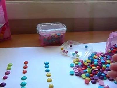 DIY Enamel Dots using Walmart Faceted Beads