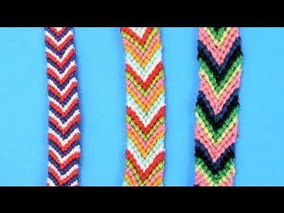 DIY Friendship Bracelets for Beginners ~ Chevron Stripe