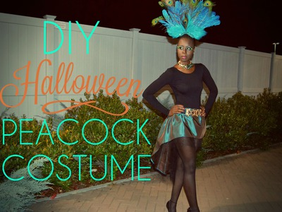 DIY Halloween Peacock Costume