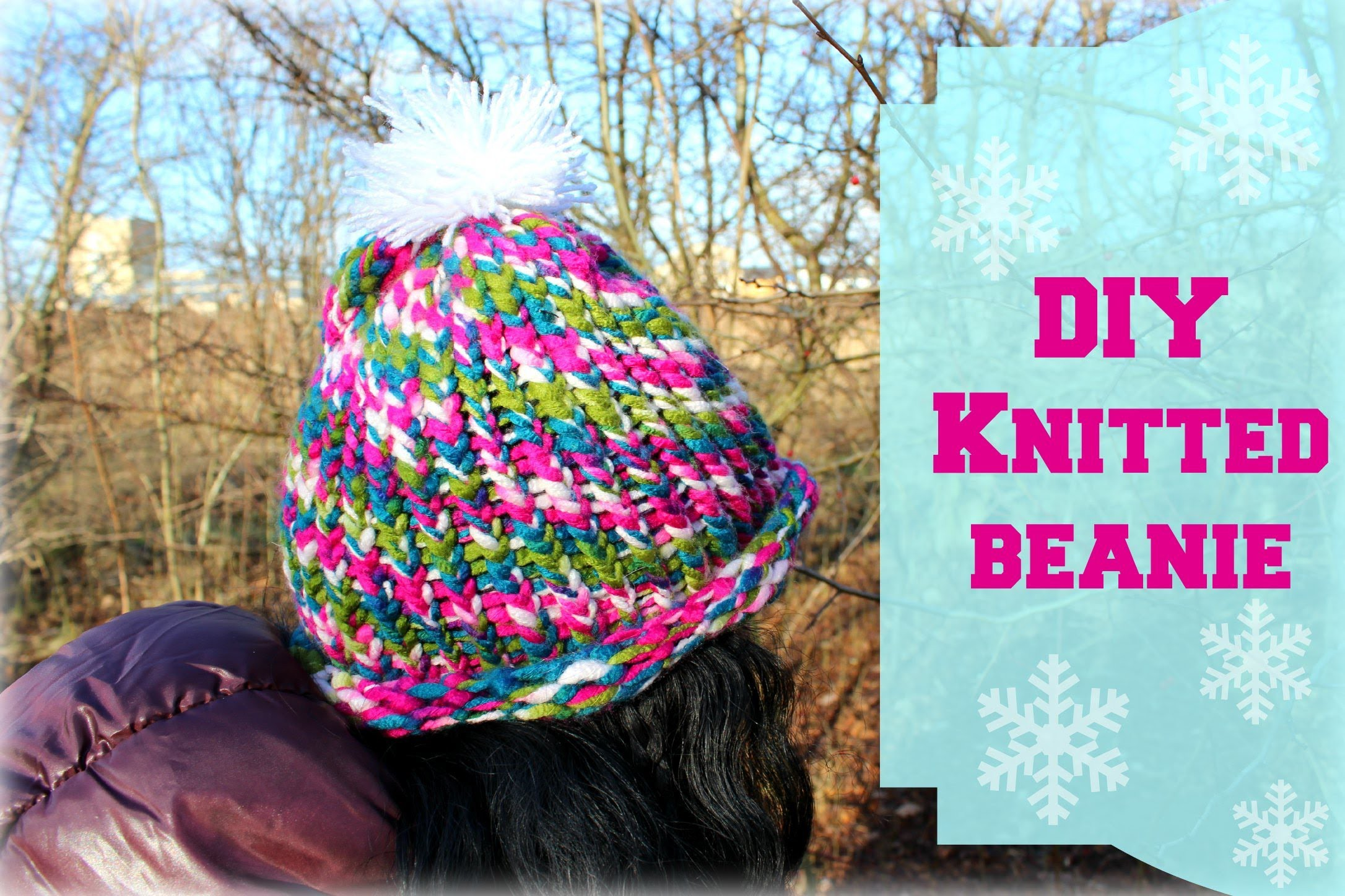 DIY knitted beanie inspired by SaraBeautyCorner