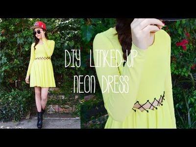 DIY Linked-Up Neon Dress