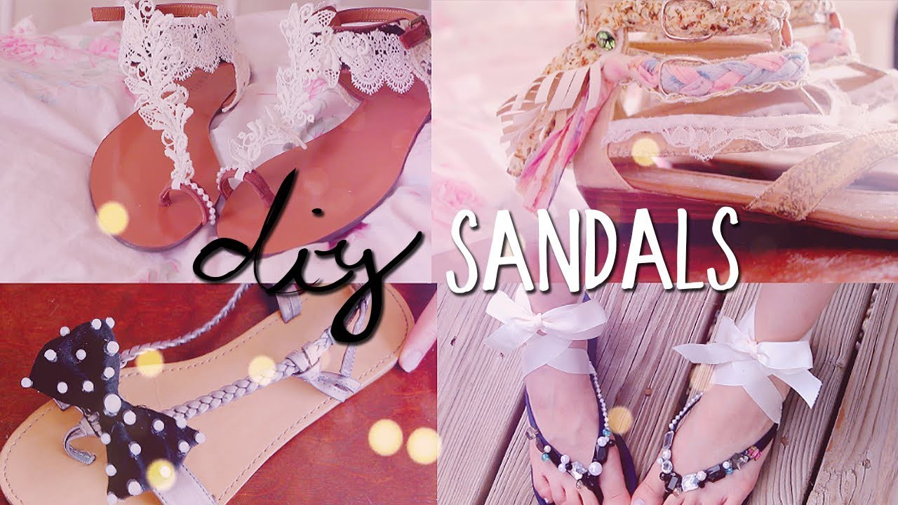DIY Summer Sandals (4 styles) Redecorate. Restyle your Flip Flops!