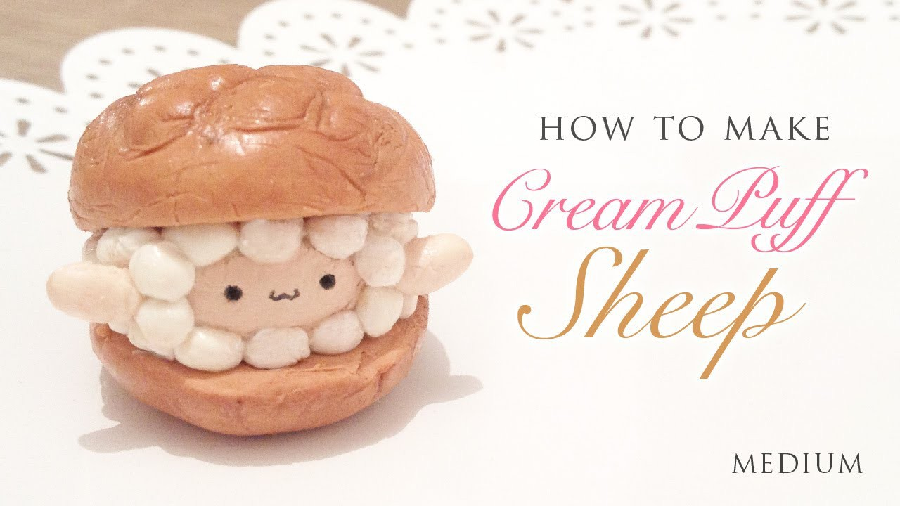 DIY The Cutest Cream Puff Sheep - Easy Clay Tutorial