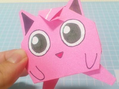 ポケモン 折り紙 プリン【折り紙 折り方】Pokemon Jigglypuff! How to make Origami