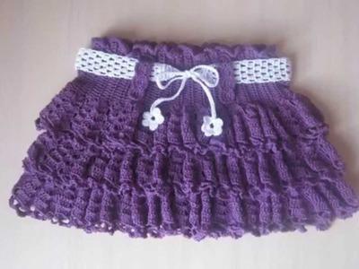 Faldas para niñas tejida a ganchillo
