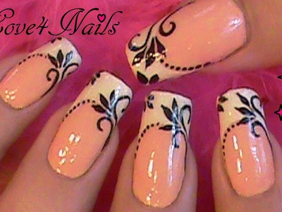 Flesh Color French Manicure Nail Art