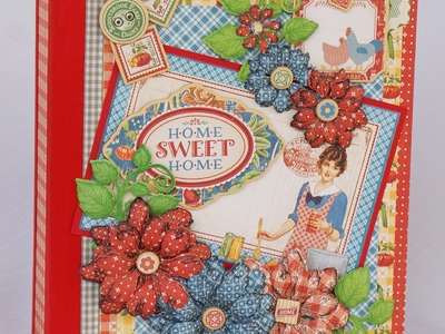 """Graphic 45 """"Home Sweet home"""" scrapbook photo album by Terry"""