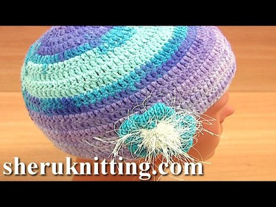 How to Crochet Hat Tutorial 2 Part 3 of 3 Handmade Crochet Female Hat