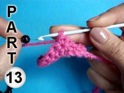 How to crochet with beads Вязание с бисером   17
