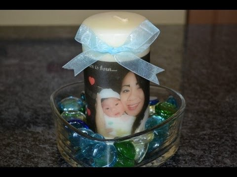 How To Make a Personalized Photo Candle