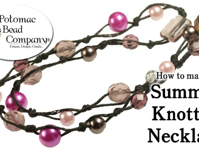 How to Make a Summer Knotted Necklace (DIY)