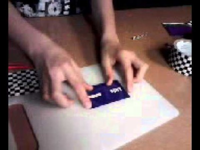 How to make a thin duct tape wallet
