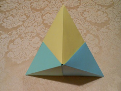 How to make an origami 3D triangle(HD)