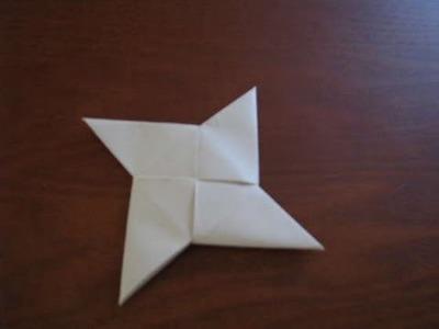 How to Make an Origami Ninja Star.Shuriken- Step by step 手裏剣- Como hacer un origami estrella ninja
