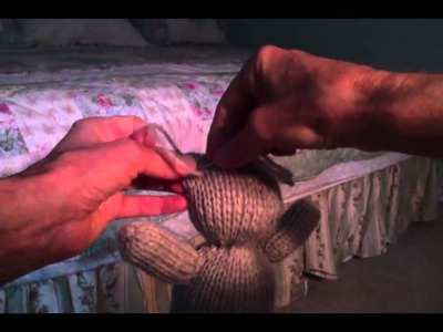 How to make ears for the knitted teddybear