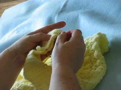 How To Overlap The Shoulders On A Baby's Outfit And Then Crochet In the Sleeve