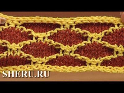 Knitting Jacquard Stitch Pattern Урок 23 Жаккардовый узор спицами