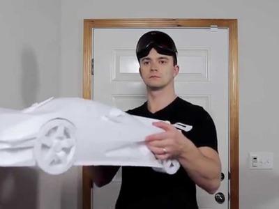 Koenigsegg One:1 papercraft crash test