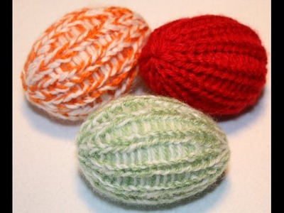 Loom knit easter egg