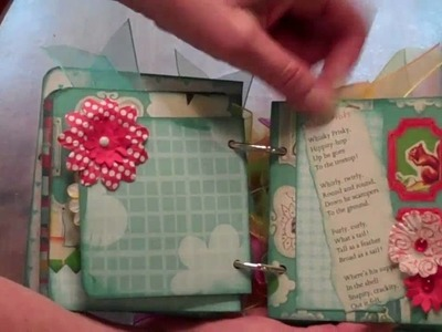 Mini Book Scrapbook with Nerdy Birdy Papers