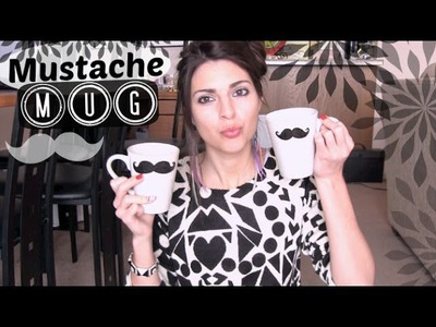 Mustache Mug How To - Holiday DIY - Sharpie Mug