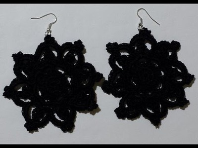 Orecchini all'uncinetto - tutorial - Earrings crochet - pendientes crochet -