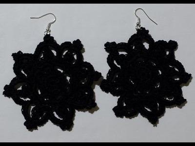 Orecchini all'uncinetto - tutorial - Earrings crochet - pendientes crochet -