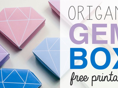 Origami Crystal Box Free Printable & Tutorial