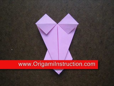 Origami Instructions Origami Lingerie