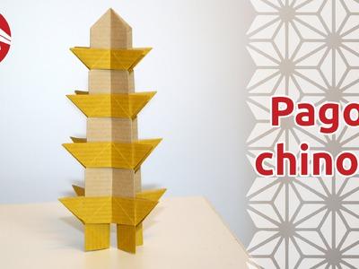 Origami - Pagode Chinoise [Senbazuru]