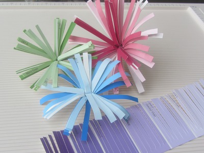 Paint Sample Craft How to Make Finge Paper Flower Tutorial