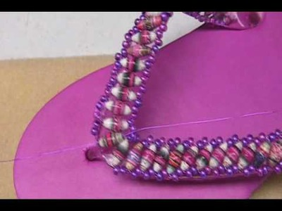 Paper Beaded Flip Flops - Part 2, by Janice Mae