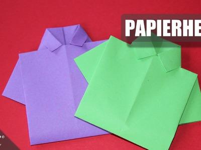Papierhemd falten. Hemd. shirt. Origami