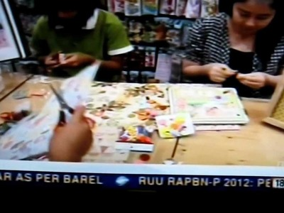 """Scrapbooking in Indonesia"" on Metro TV"