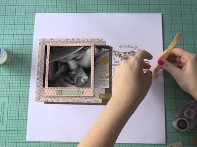 Scrapbooking Process Video - Lovely - Grab 5 #5
