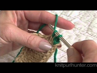 Single Crochet Edge on Knitting