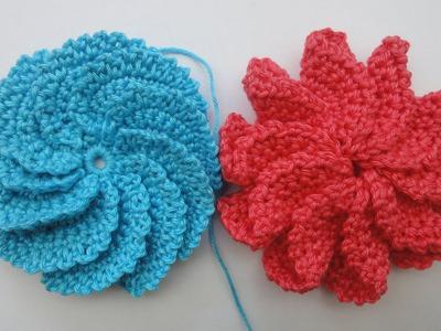 Спиральный цветок Вязание крючком Spiral Flower Crochet