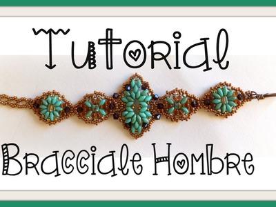Tutorial Componente e Bracciale perlinoso   DIY beaded bracelet and superduo component