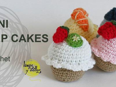 Tutorial Mini Cupcakes Amigurumi Crochet o Ganchillo