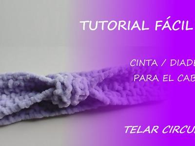 Tutorial telar circular - diadema. cinta para el cabello - Fácil DIY