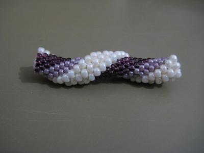 Tutorial : tubolare crochet con perline rocailles 11.0 e 8.0 - 1^parte