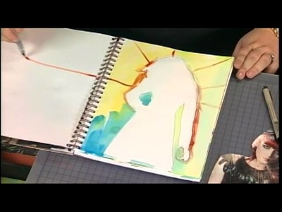 110-1 Julie Fei-Fan Balzer demonstrates simple art journaling on Scrapbook Soup