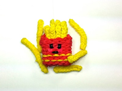 3-D Happy Fries Tutorial by feelinspiffy (Rainbow Loom)